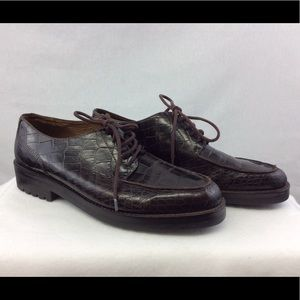 Ralph Lauren Men's Brown Oxfords Alligator Shoes